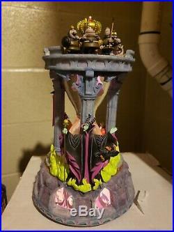 Disney Store Sleeping Beauty Hourglass Musical Light Up Disney Snow globe EX