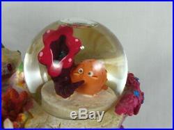 Disney Store The Little Mermaid Water Globe 1988 Under the Sea Ariel Musical