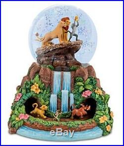 Disney The Lion King Rotating Bradford Exchange Musical Glitter Globe