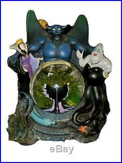 Disney Villains Ursula Evil Queen Maleficent musical snow globe. NEW condition