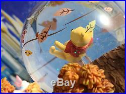 Disney Winnie the Pooh Blustery Day Snowglobe Music Box Snow Globe