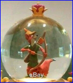 Disney's Exclusive 35th Anniversary Robin Hood Musical Snow Globe Rare