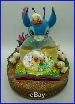 Disney's Lilo & Stitch Musical Snowglobe Stitch and Ducklings Very Rare Globe