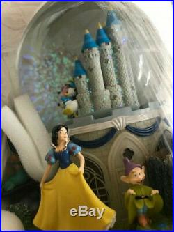 Disney's Magical Moments Rotating Glitter Water Globe Snowdome Musical Disney