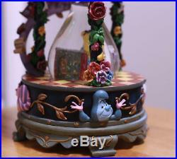 Disney store Japan 25th Alice in Wonderland Snow Globe Dome Music box USED