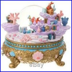 Disney store Little Mermaid Ariel Snow globe Music Box Figure Doll Alan Menken