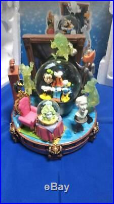 Haunted Mansion Large Rotating Snow Globe Music Box Snow dome figure Mickey doll