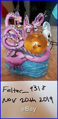 Hercules Vs Hydra & Dragons Disney Store Musical Snow globe, original owner