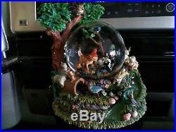 Lot Of 6 Disney Musical Water Globes Hercules Bugs Life Peter Pan Villains