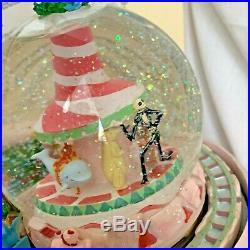 NEW Disney Nightmare Before Christmas Snow Globe w Music Light and Moving Train