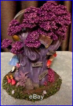 NIB! RARE Disney Alice In Wonderland Cheshire Cat Musical Globe, that lights up