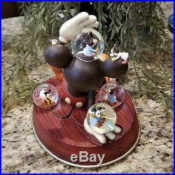 New in Box Disney Mickey's Nightmare Musical Snow Globe 1932 Commemorative