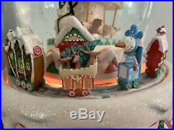 RARE Disney Nightmare Before Christmas Snow Globe with Music, Light & Moving Train