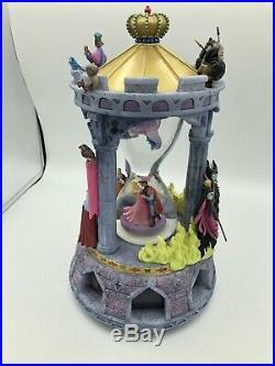 RARE Disney Sleeping Beauty Hourglass Musical Snow globe