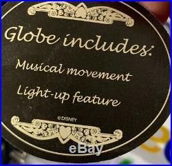 RARE Disneyland Resort VILLAINS Light Up Musical Snow Globe Disney World AMAZING