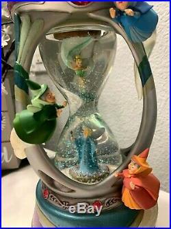 RAREDisney FAIRY FAIRIES GODMOTHERS TINK HOURGLASS Snow Globe Musical/Lights
