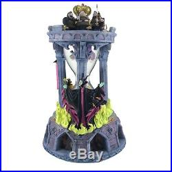 Rare Disney Direct Sleeping Beauty Hourglass Snow Globe and Music Box LARGE