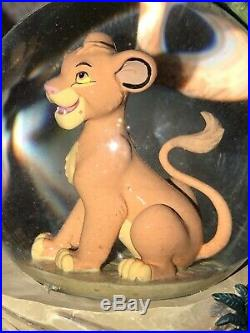 Rare Disney Store 28565 The Lion King Mufasa Simba Musical Snow Globe
