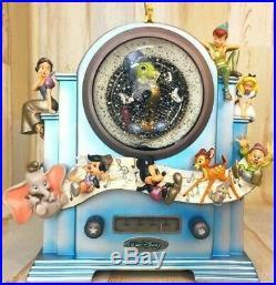 Rare Disney store Japan 25th Anniversary Snow Globe Music Box Snow Dome EMS F/S