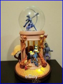 Retired Disney Store Fantasia Goddess MUSICAL & LIGHT UP Snow globe EC WITH BOX