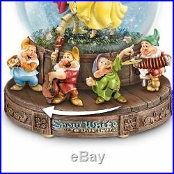 The Bradford Exchange Disney Snow White Musical Glitter Globe with The Seven Dwa