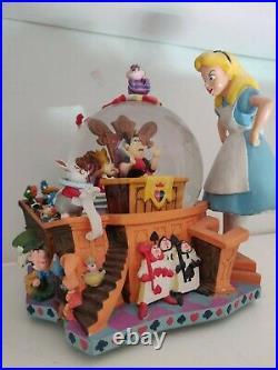 The Disney Store Alice In Wonderland 50th Anniversary Musical Snow Globe W Tag