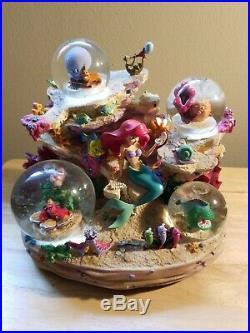 The Little Mermaid Musical Snowglobe Under The Sea Disney Store Ariel Snow Globe