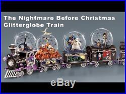 Tim Burtons The Nightmare Before Christmas 6 Car Musical Snow Globe Full Set