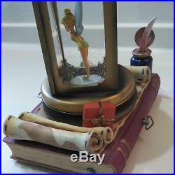 Tinker Bell Peter Pan Disney Discontinued Rare Snow Globe Light Music Box F/s