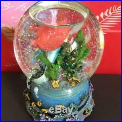 Tokyo Disney Sea Little Mermaid Ariel & Flounder & Sebastian Musical Snow Globe