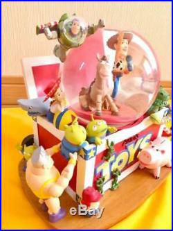 Toy Story Snow Globe Disney With Music Box Woody Andy Collectible F/s From Japan