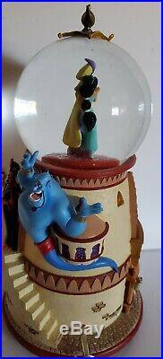 VHTF-Vintage Disney Aladdin pedestal snow globe Lights up, Rotates & musical
