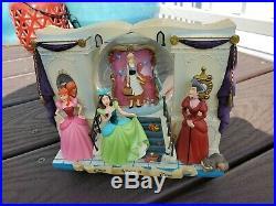 Vintage Disney Cinderella Book Once Upon A Time Music Snowglobe Snow Globe RARE