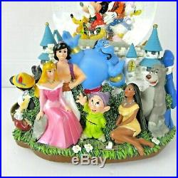 Walt Disney A Magical Gathering Double Snow Globe Castle Musical Dumbo